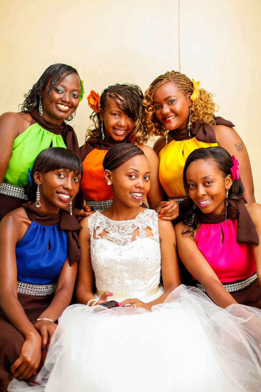 A Refreshing Splash Of Living Colour Angie Jesse S Story Kenyan Wedding Wedding Hairstyles Bridal Braids