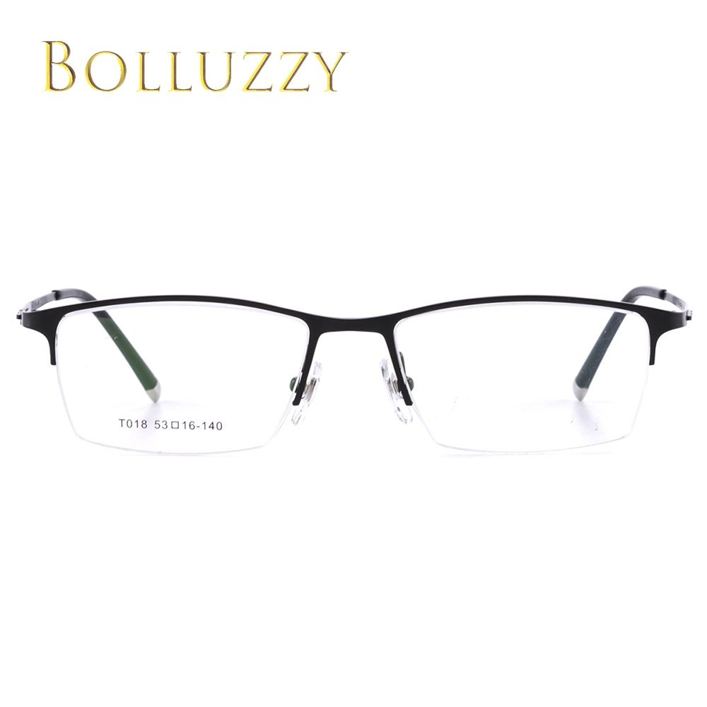 ca20a2bf94 Vintage pure titanium half rim optical prescription eyeglasses frame T018  big design brand ultra light eye wear for man women
