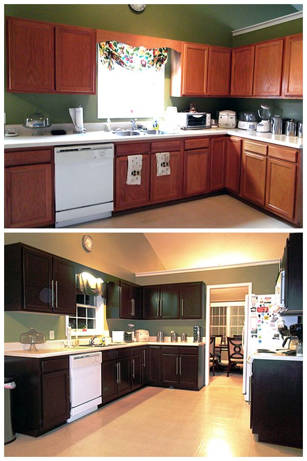 These Kitchen Cabinets May Look Brand New But Wait Til You See What Transformed Them Learn How To Home Rustoleum Cabinet Transformation Refinishing Cabinets