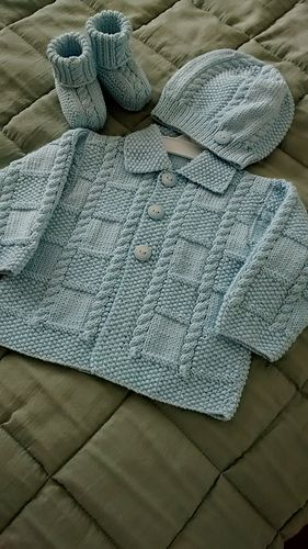 Deluxe Baby (Jacket) pattern by Jarol #blue