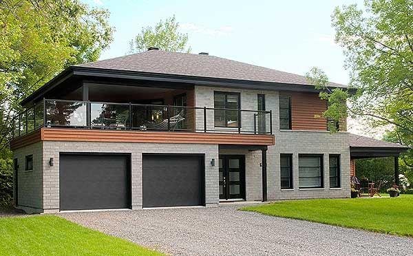 Plan 22326dr Contemporary Bi Generational House Plan In