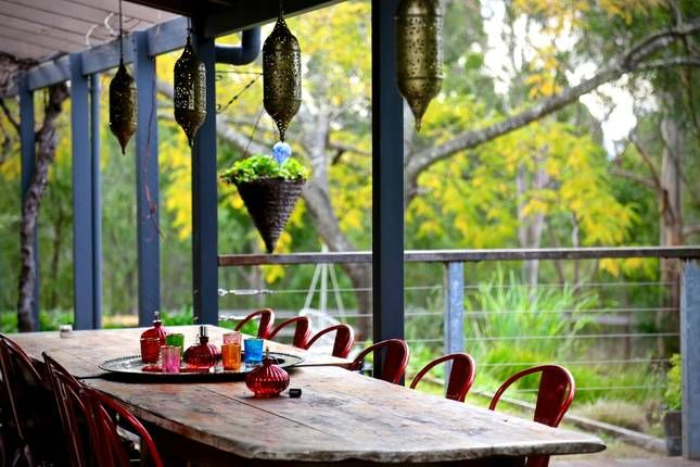 Out door dining area: Cicada Country House in Hunter Valley
