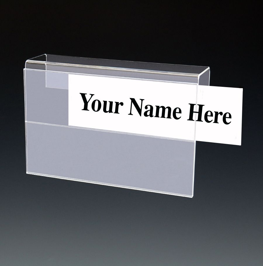 Two Tier Cubicle Name Plate Holder Acrylic Name Plate Holder Acrylic Cubicle Name Plates Name Plate Plate Holder Office Signage