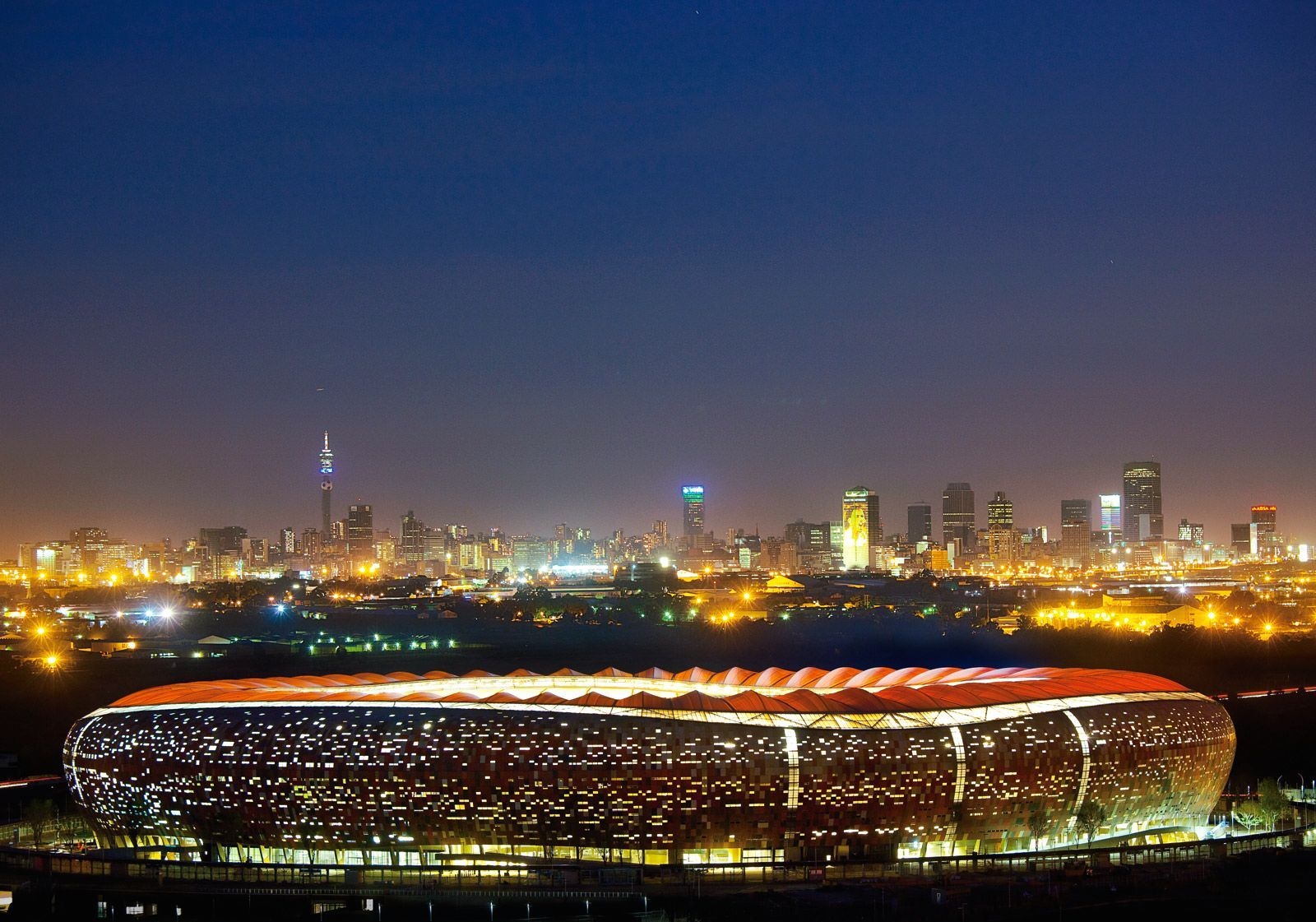 The City of Lights - #Johannesburg -the biggest football stadium in the country which held the #2010FifaWorldCupfinal