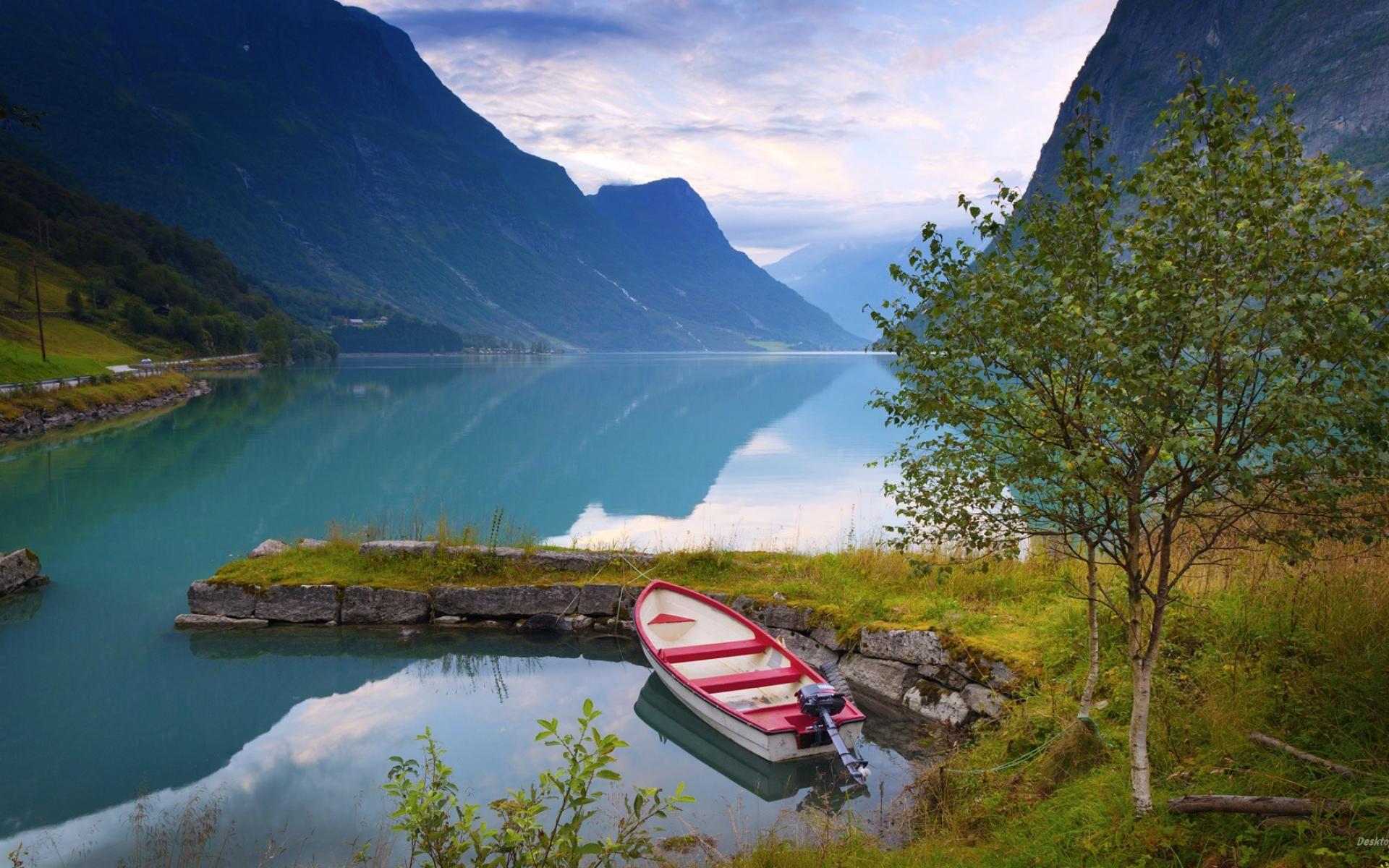 The Scenery The Natural Scenery Of Norway Hd Wallpaper