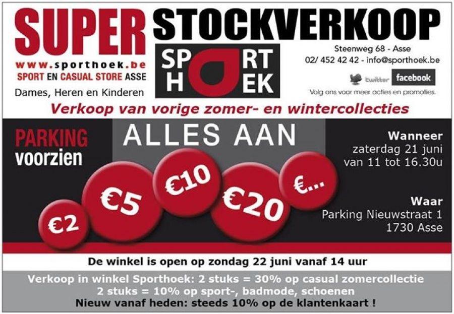 Stockverkoop Sporthoek Asse -- Asse -- 21/06