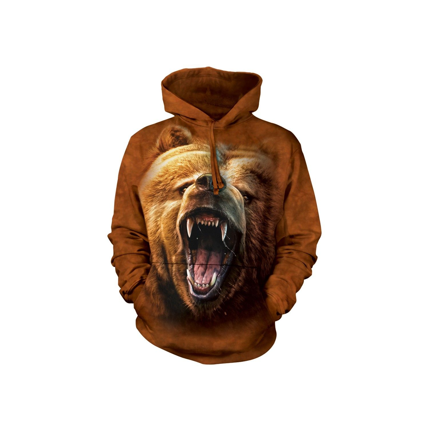 "BEAR /""GRIZZLY GROWL/"" ADULT HOODIE SWEATSHIRT THE MOUNTAIN"