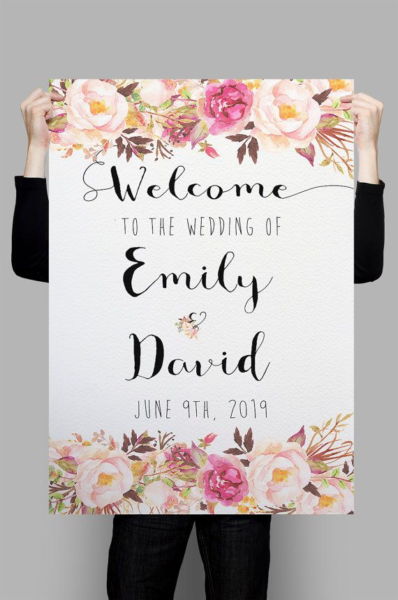 Printable Wedding Welcome Sign Welcome To The Wedding Custom