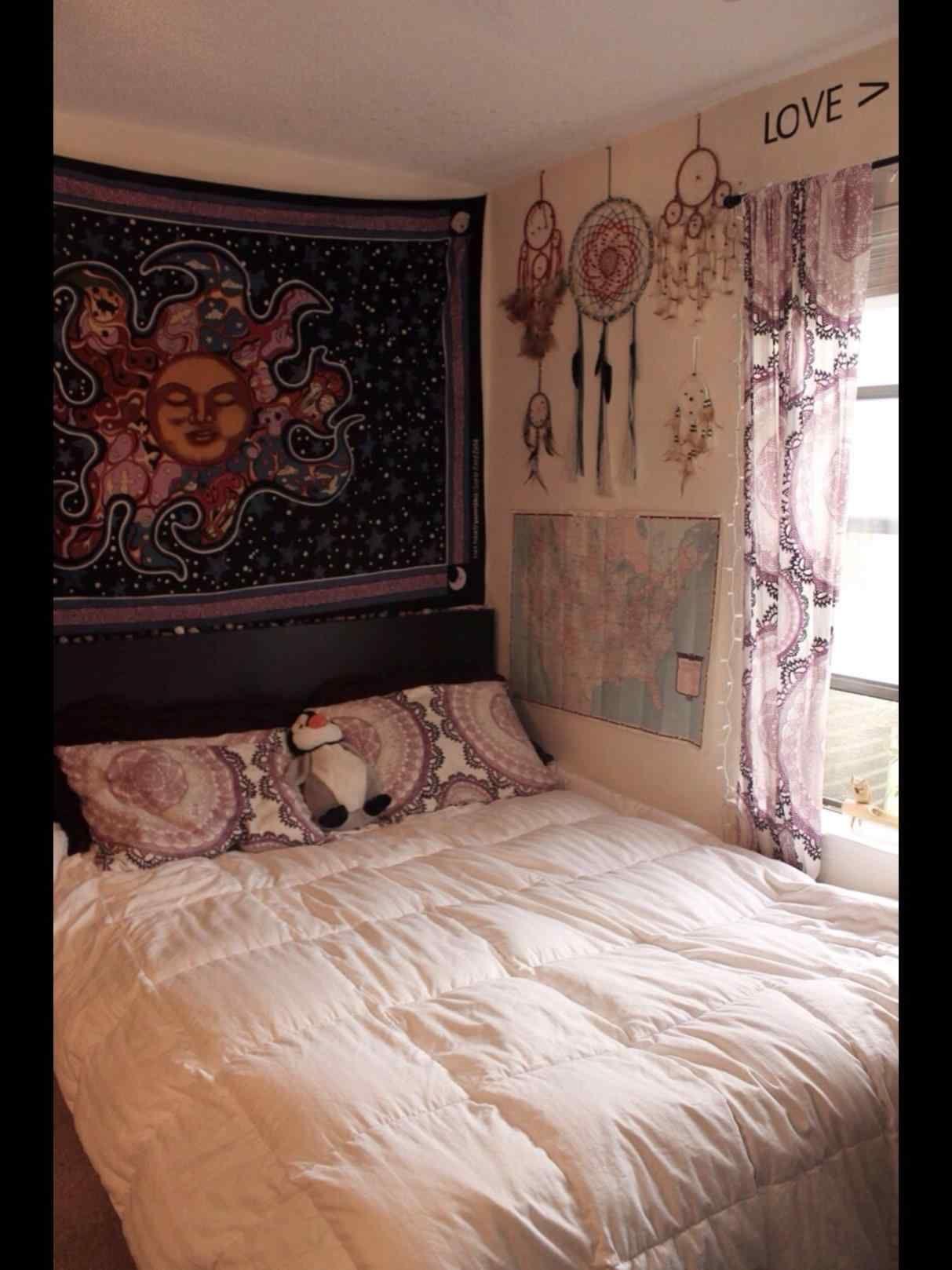 Böhmische Schlafzimmer Wohnung, Zimmer, Dekor