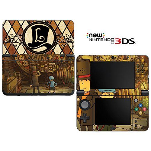 Professor Layton Decorative Video Game Decal Cover Skin Protector for New Nintendo 3DS (2015 Edition)
