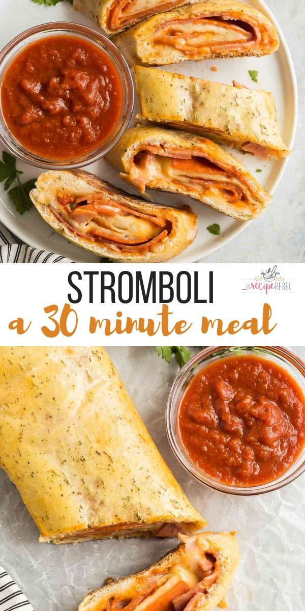 Easy Stromboli (easy dinner idea!) - The Recipe Rebel