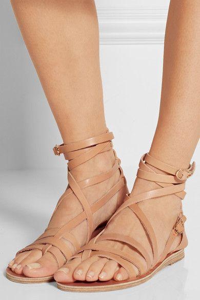 studded strap sandals - Metallic Ancient Greek Sandals MXMzZ