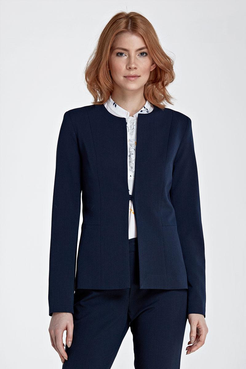 veste tailleur femme sans col bleu marine vestes pinterest veste tailleur femme tailleur. Black Bedroom Furniture Sets. Home Design Ideas