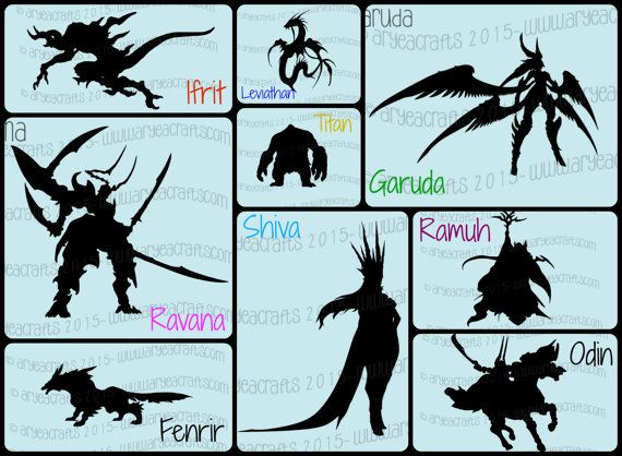 FFXIV Final Fantasy 14 Primals Silhouettes | Items on