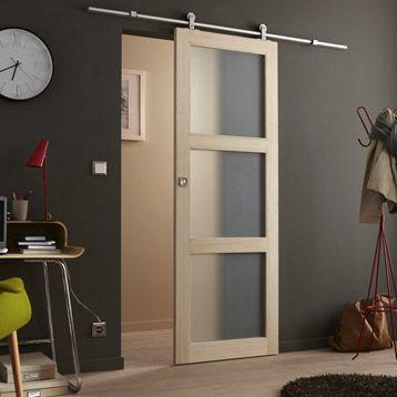 Porte Coulissante Bowen Vitree 204 X 73 Cm Porte Coulissante Sliding Door Porte Interieur Moderne