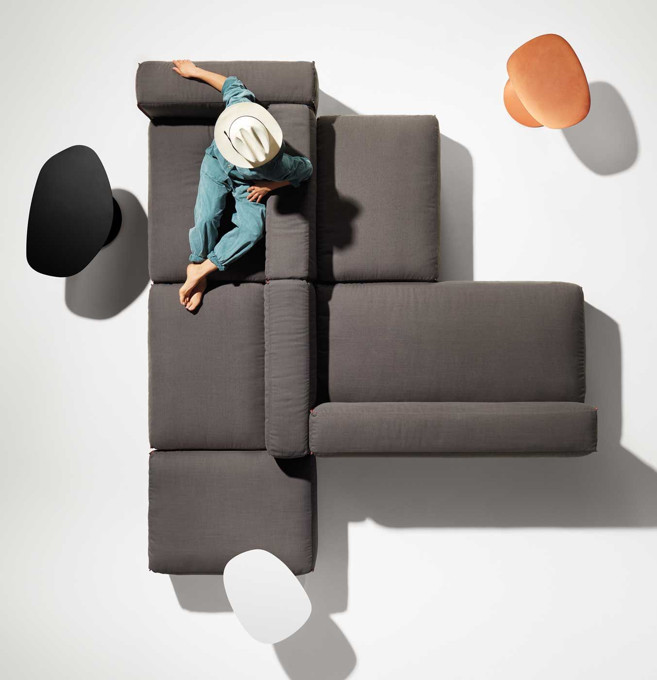 Shop the Cleon Collection of modular sectional
