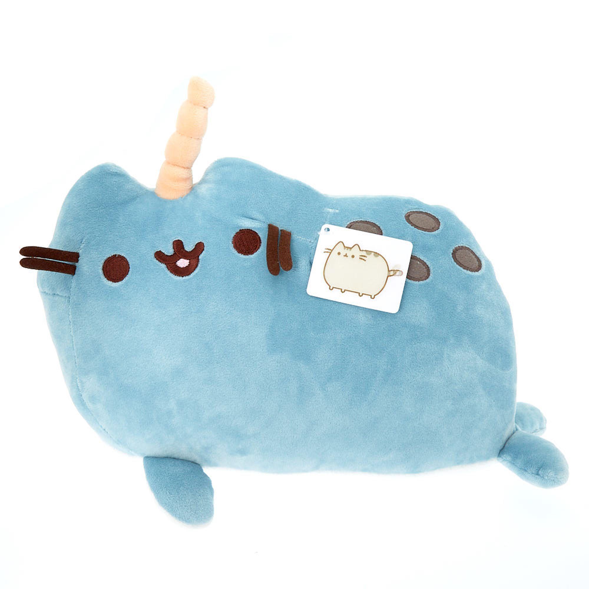 Pusheen® pusheenimals narwhal medium plush toy blue