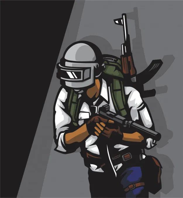 Premium Vector PUBG soldier H69.design Photo logo