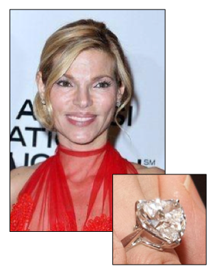Celebrity Engagement Ring Andrea Hissom Casino Mogul And