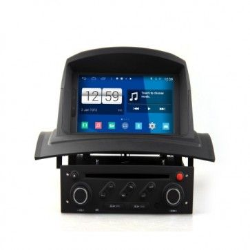 auto android 4 4 4 autoradio renault megane 2 kangoo poste dvd gps usb bluetooth cran tactile. Black Bedroom Furniture Sets. Home Design Ideas