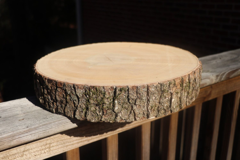 Wood Slab Cake Stand! Wood Slice, Cake Stand, 14 Inch, Wood Slab