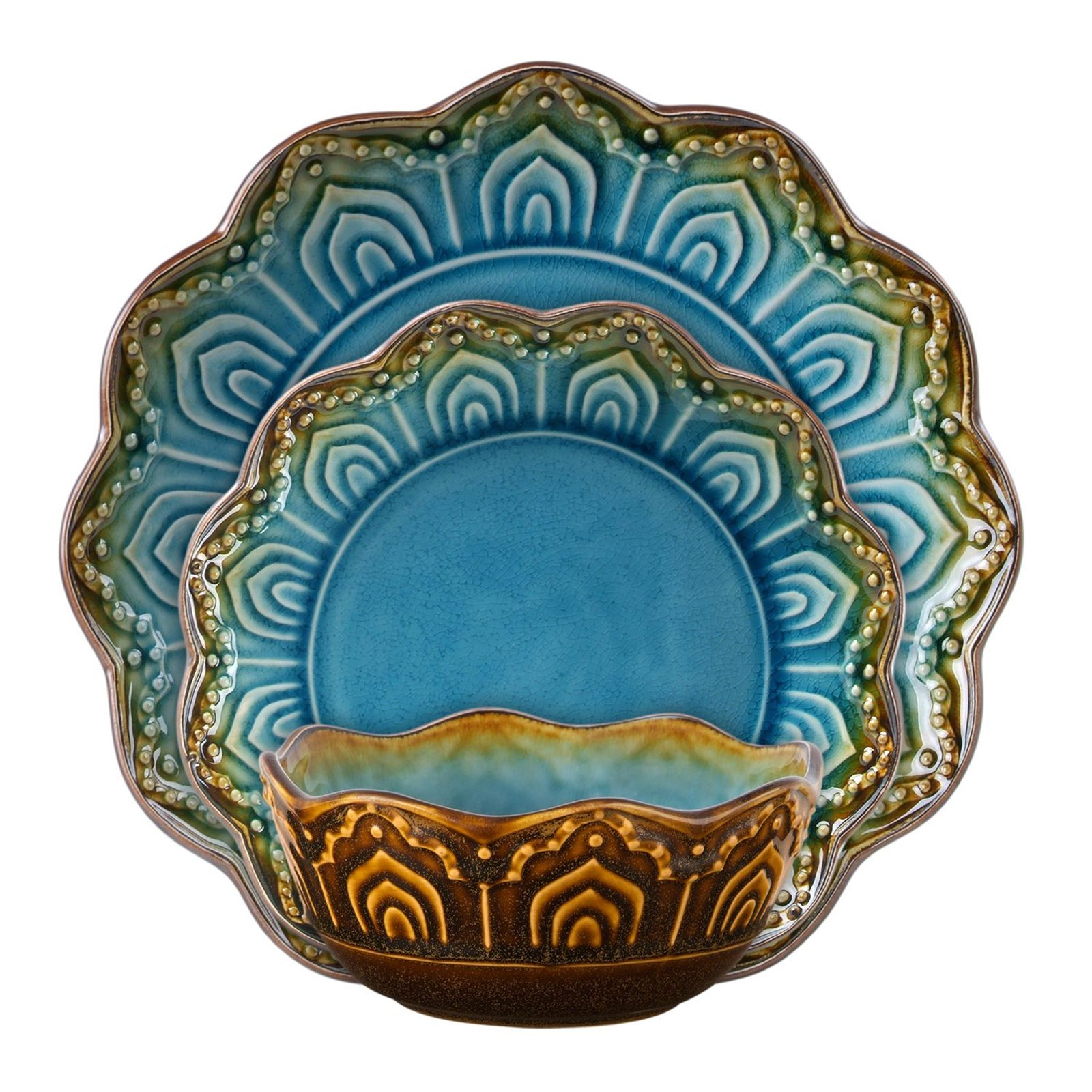 Gibson Elite Couture Maison Morocco 16 pc Dinnerware Set Turquoise - Gifts - Giftable Items - All Giftable Items  sc 1 st  Pinterest & Gibson Elite Couture Maison Morocco 16 pc Dinnerware Set Turquoise ...