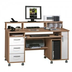 mobile computer desks for the smaller home office rh pinterest com