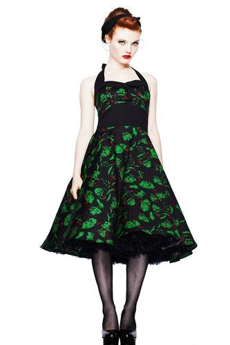 23acd39274fb Hell Bunny Freddy Horror Movie Psychobilly 50s Dress Zombie Gothic Plus  Size | eBay