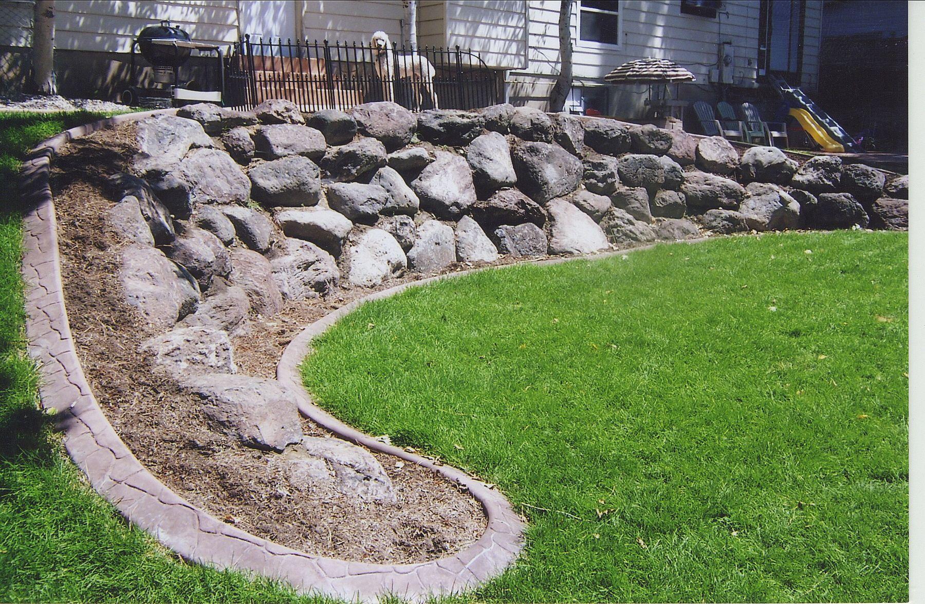 Rock walls landscaping large rock retaining walls