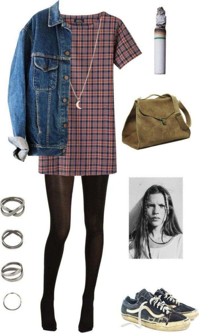 Coolest Denim Jackets for Women #Winteroutfits | Grunge ...