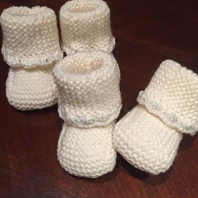babysokker strikket på 2 pinde