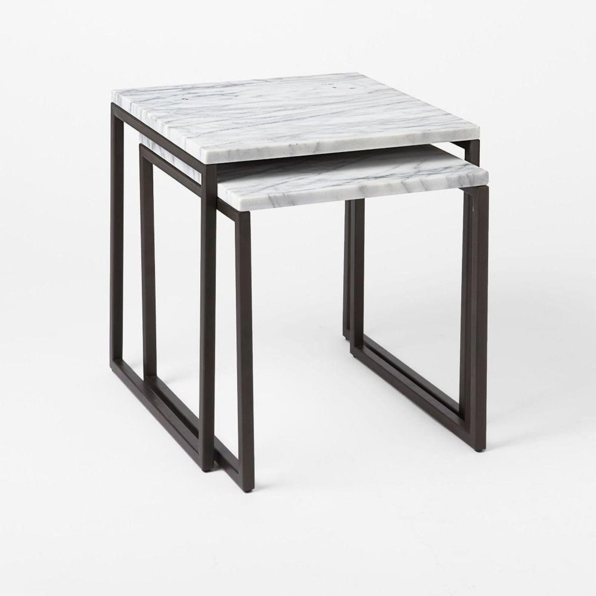 Box Frame Nesting Tables Marble