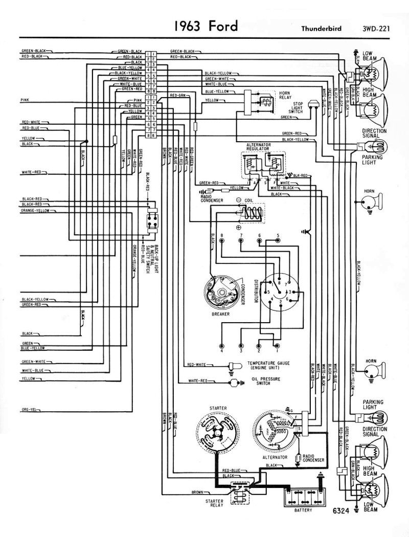 1958 68 Ford Electrical Schematics Diagram Repair Manuals Ford