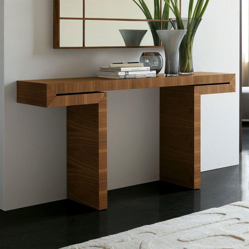 porada miyabi canaletto walnut console table designer furniture