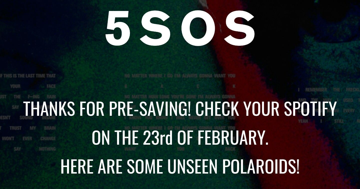 Go To The 5sks Website And Save Want You Back For Some Unseen