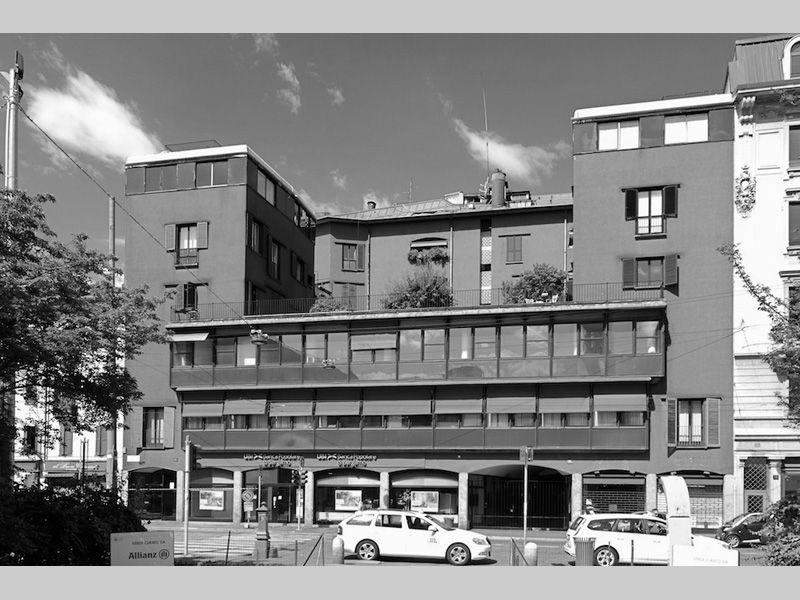 Edificio per abitazioni uffici e negozi luigi caccia for Negozi arredamento milano e provincia