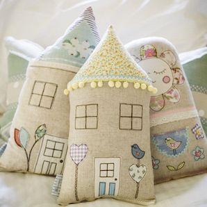 Little Love Bird House Cushion Sewing Crafts Fabric Crafts Handmade