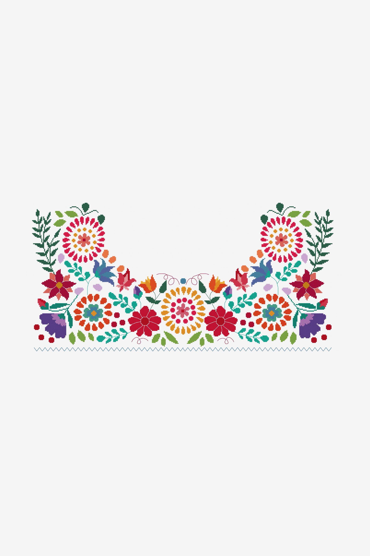 Viva La Vida pattern | Mexican patterns | Pinterest | Bordado ...