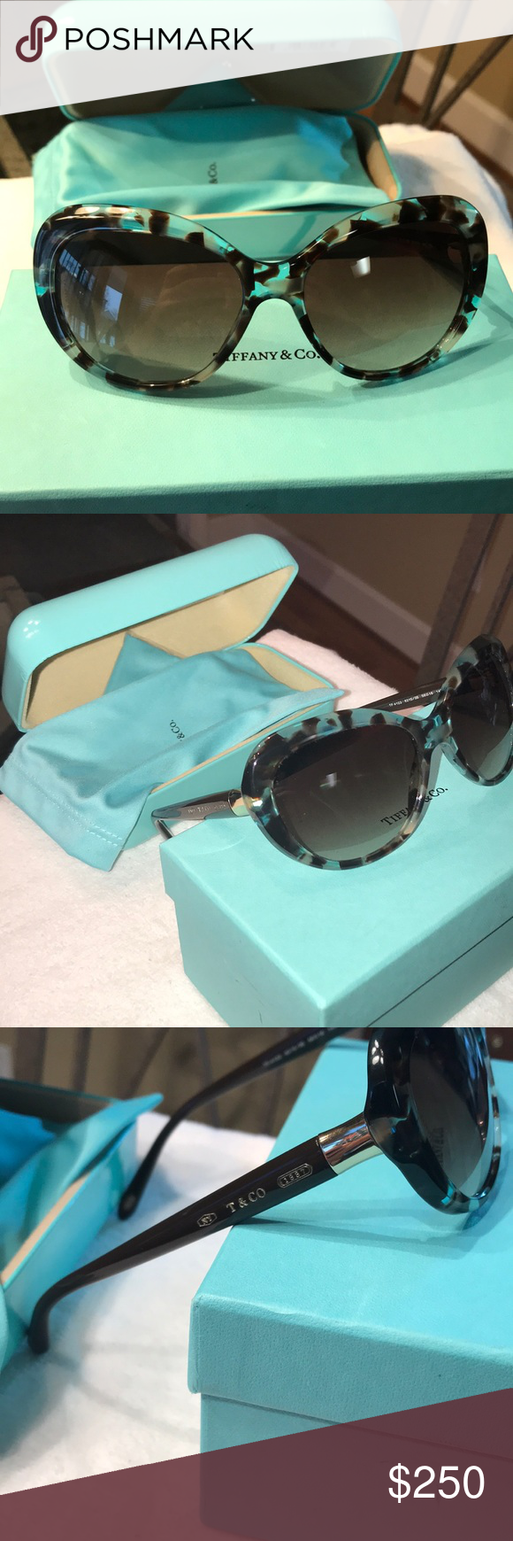 9182d314582 TF4122 Spotted Opal Blue Sunglasses. Tiffany   Co. TF4122 Spotted Opal Blue  Sunglasses New and authentic. Comes with box