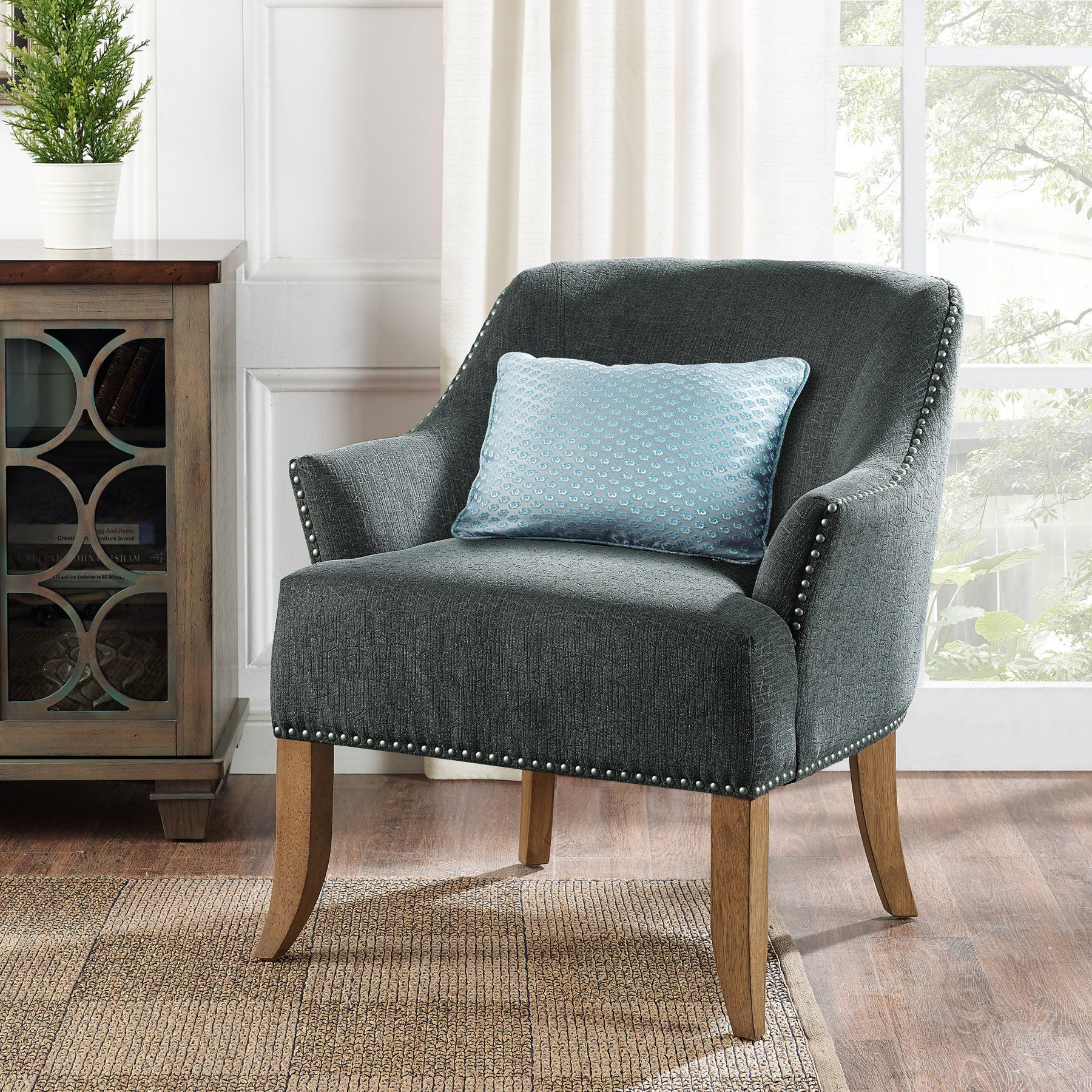 dorel living etta accent arm chair products accent chairs grey rh pinterest ca