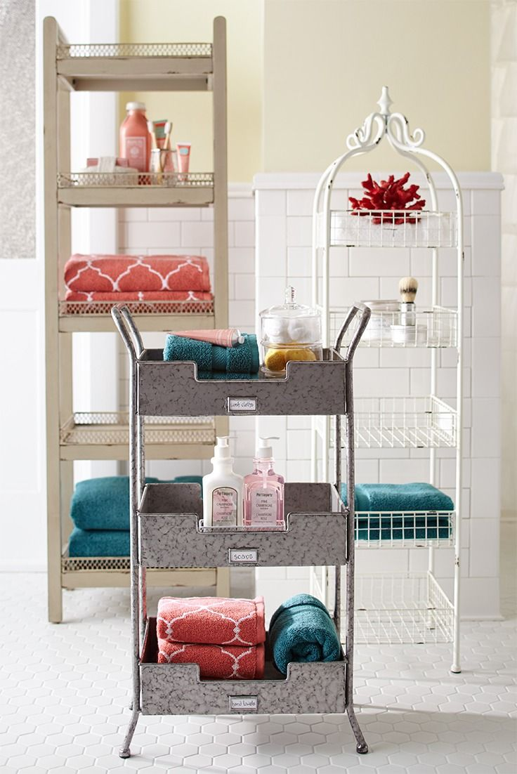 clever storage hacks to keep your bathroom organized with rh pinterest com