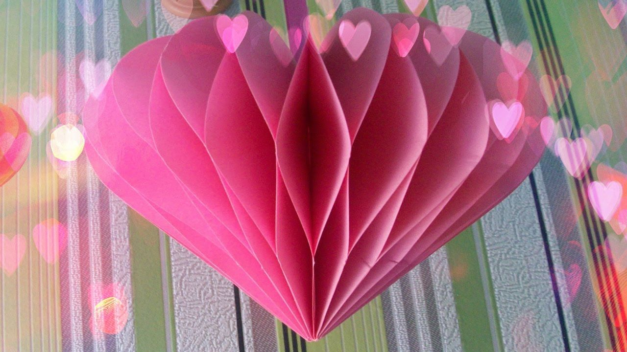 Diy Turorial How To Make Anazing 3d Paper Heart Howtomake