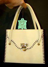 Vintage 1950's MID-CENTURY Modern FASHION Deerskin Leather KELLY PURSE Hand Bag