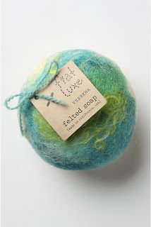 Felted soap for exfoliation