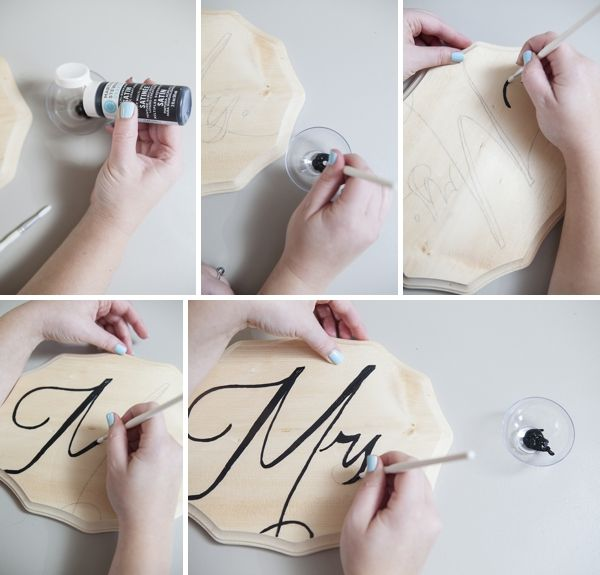 How To Easily Make Diy Mr And Mrs Chair Signs For Your Wedding!