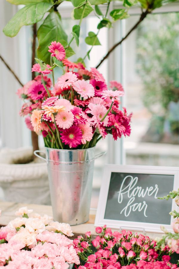 why flower bars are the new it bridal shower detail in 2019 rh pinterest com