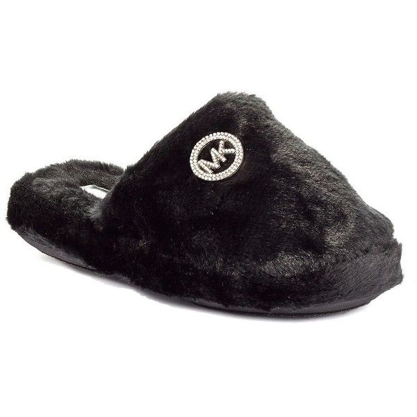 92668bb828b9e MICHAEL MICHAEL KORS Faux Fur Slippers ( 40) ❤ liked on Polyvore featuring  shoes