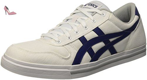 Asics Aaron - Chaussures Gymnastique - Homme - Blanc (White/Bleue Print) -