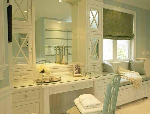 bathroom vanity with seat