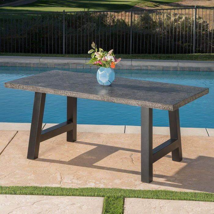 dorcia stone concrete dining table patio concrete dining table rh pinterest com